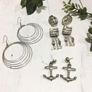 Dead stock / 4 set earrings